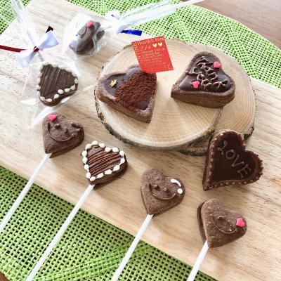 簡単ハートの生チョコタルト♡ハートクッキーサンド