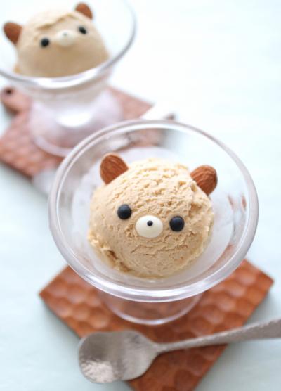 クマちゃんのほうじ茶アイスクリーム
