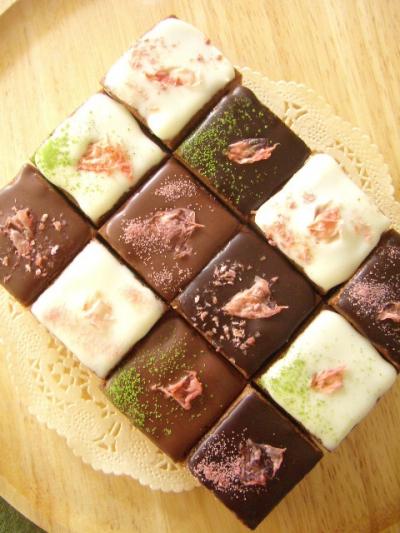 桜彩る☆チョコレートの石畳カトルカール