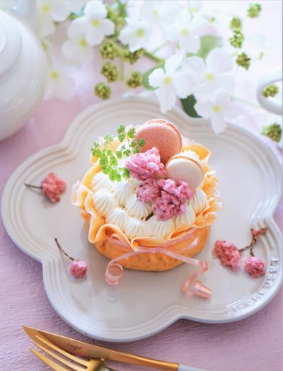 おひとりさま用ミルクレープ(プレーン・桜味)