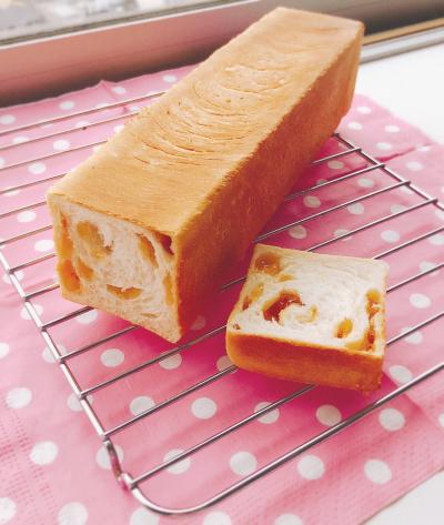 キャラメル粒ジャム食パン☆