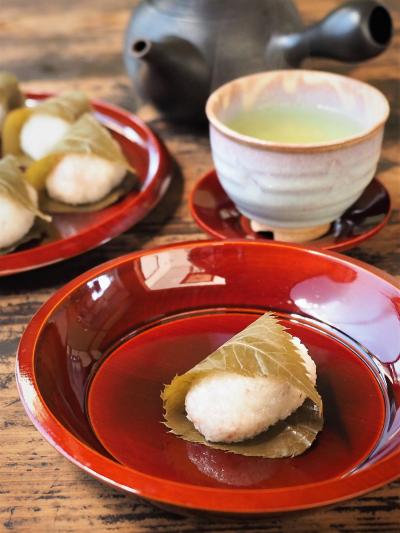 桜餅 食紅不使用の道明寺
