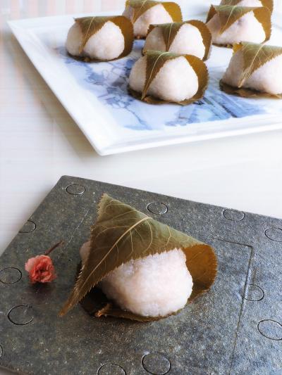 桜餅 電子レンジで作る道明寺