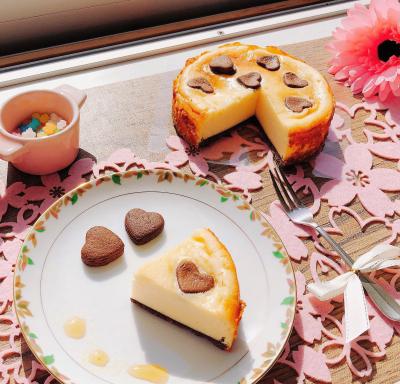 ツップフクーヘン風♡ ~ココアとチーズのケーキ~
