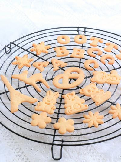 複雑な型にも安心♪ アーモンドパウダーなしの型抜きクッキー生地