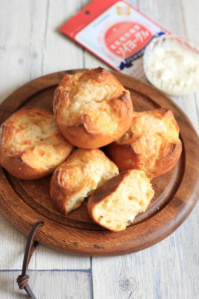 豆乳ヨーグルトで!オレンジのプチパン