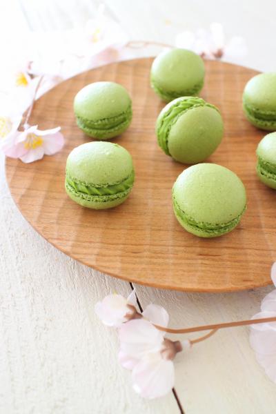 和菓子みたい♬抹茶が香るしっとりマカロン