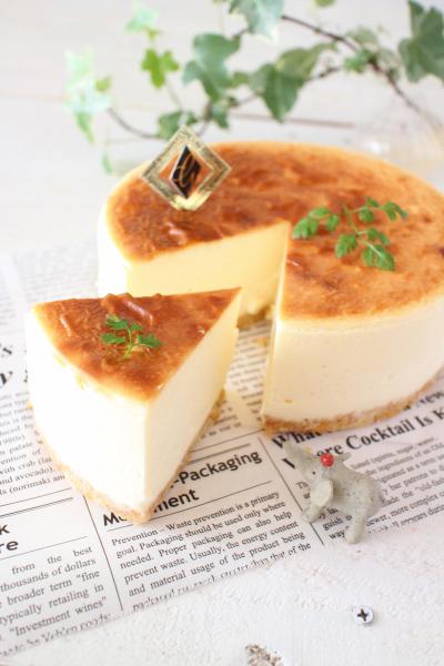 とろ~り♪感動の半熟チーズケーキ