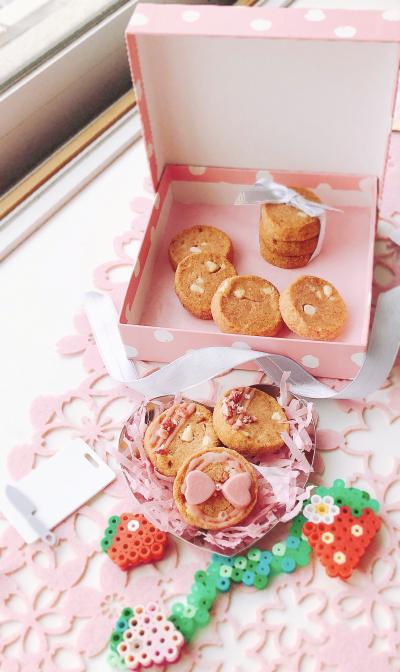 【バター少なめ】ストロベリーホワイトチョコクッキー☆