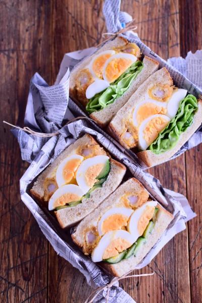 胚芽入り食パンで作るピクニックサンド