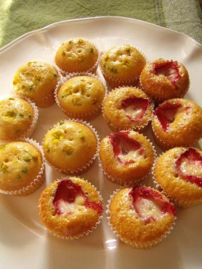 ♡ホットケーキミックスで作るイチゴと菜の花の春マフィン♡
