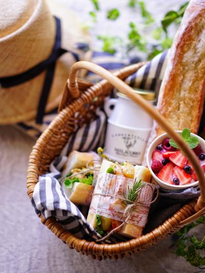 ソフトフランスでピクニックサンドイッチ