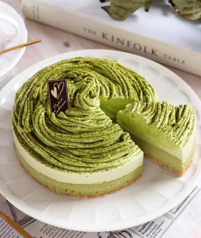 贅沢抹茶のダブルチーズケーキ