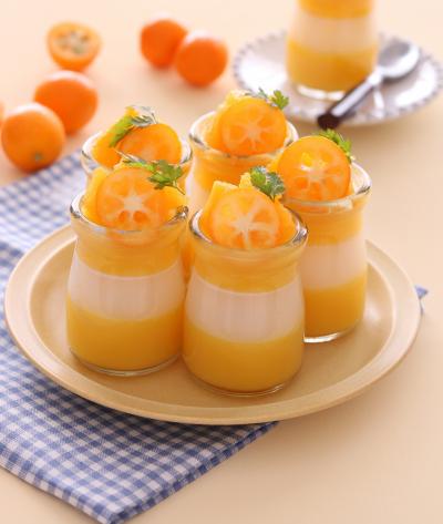 オレンジカルピスゼリー
