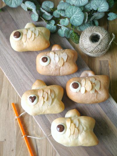 板チョコで作るこいのぼりパン