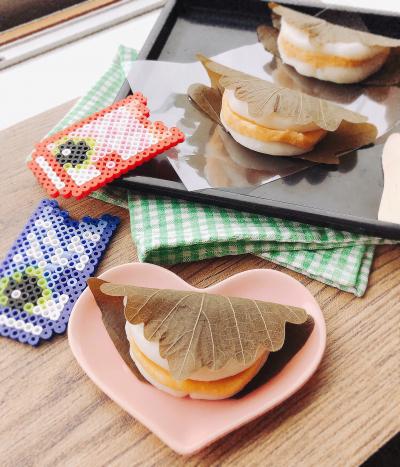 ♡塩キャラメル餡 柏餅♡ ~レンジとHBで~
