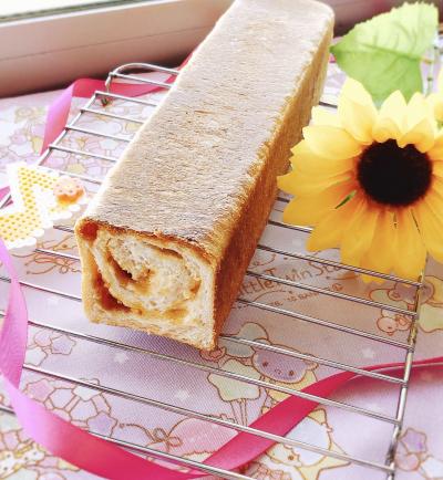 キャラメルピーナッツバター食パン♡
