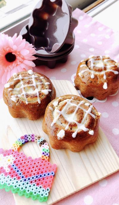 カフェモカチーズロールパン♡