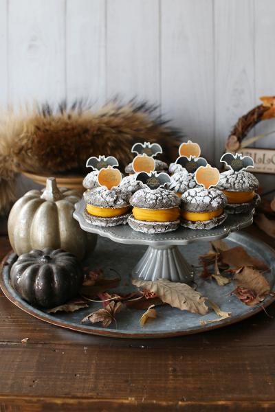 ハロウィンカラーの♪ かぼちゃのブッセ
