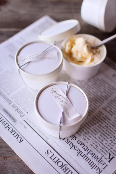 お店みたいなアイスクリームのラッピング
