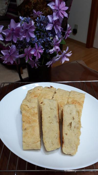 発酵なし簡単!バナナ入りおからパン