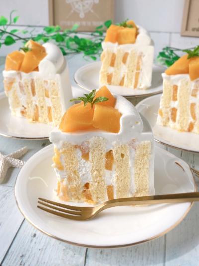 切ってビックリ!マンゴーの縦サンドショートケーキ