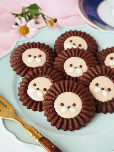 リースノズルで作るライオンクッキー♡