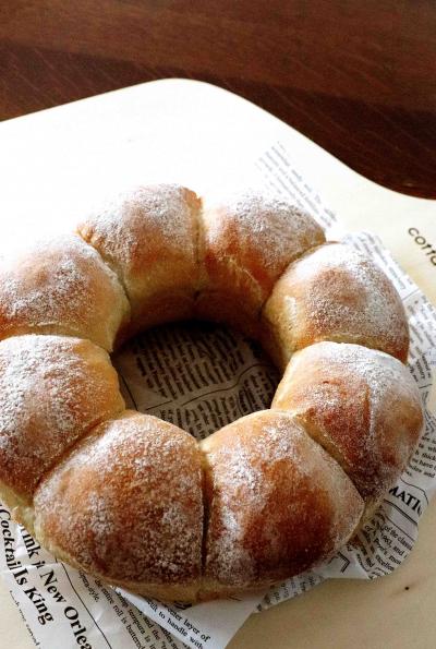 そば粉入りのちぎりパン♪