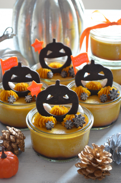 ハロウィンパーティーに♪ジャック・オ・ランタンのかぼちゃプリン