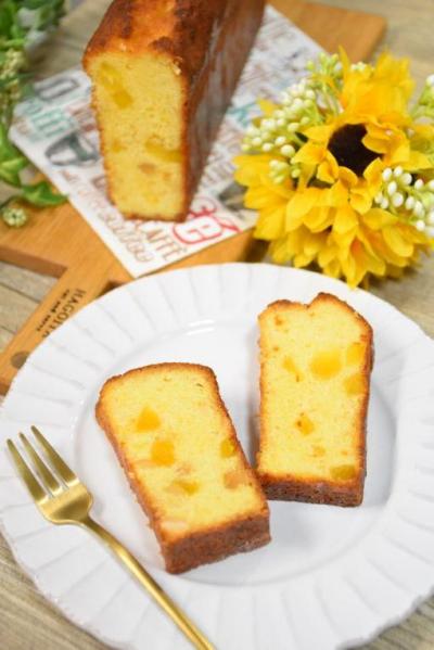 パイナップルとマカデミアナッツのパウンドケーキ
