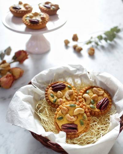 カボチャとチーズのタルトwithナッツ