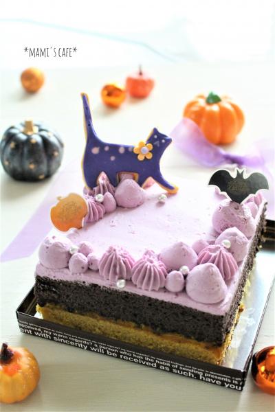 かぼちゃとココアのスクエアケーキ
