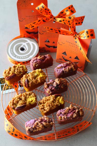 かぼちゃと紫芋のハロウィンスティックケーキ