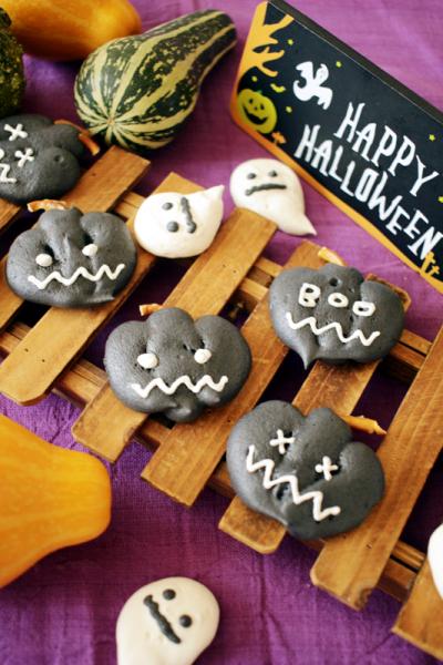 ハロウィンまっくろメレンゲクッキー