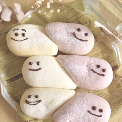 *かわいい♪おばけちぎりパン*
