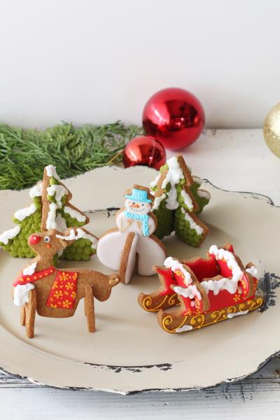 クリスマスジンジャー3Dクッキー