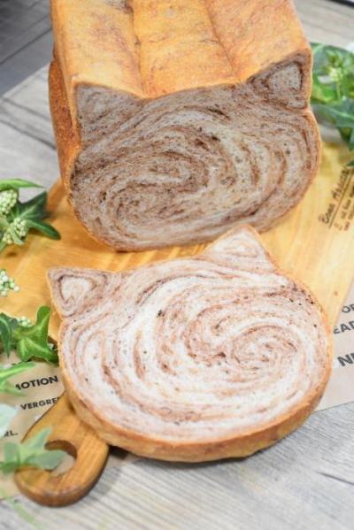 茶トラ猫食パン