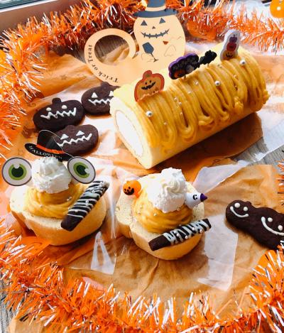 ハロウィンロールケーキ♡