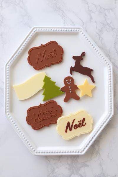クリスマスチョコプレートの作り方