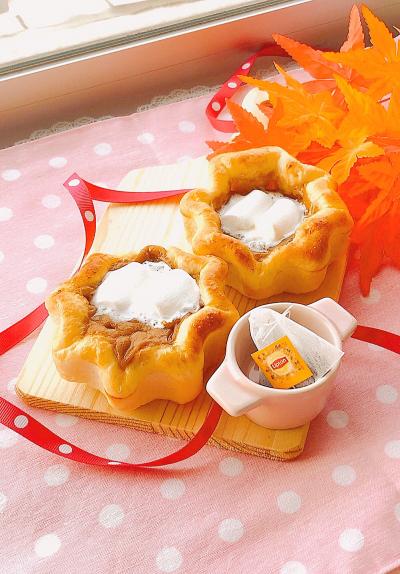 紅茶ラムレーズンパン ~マシュマロ乗せ~ ☆