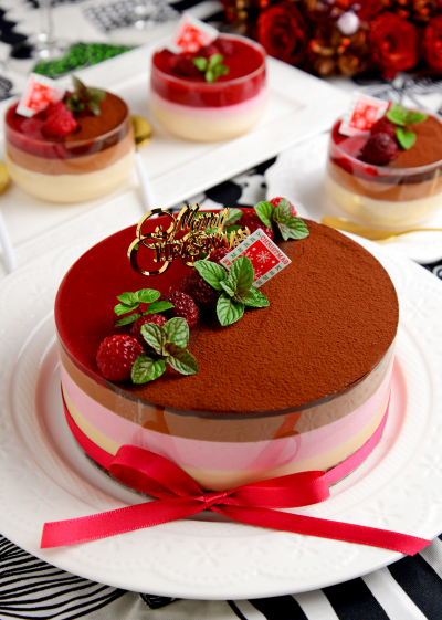 3層ムースで作るクリスマスケーキ