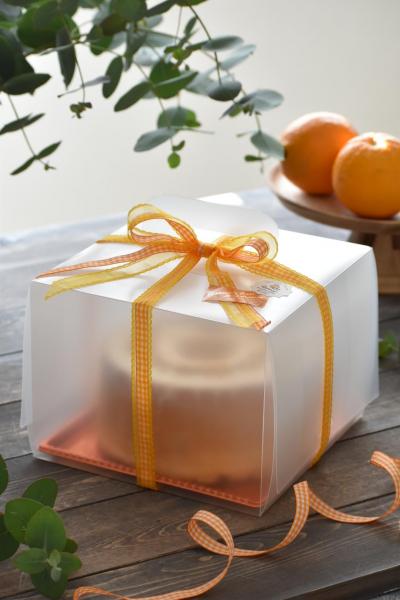 オレンジシフォンケーキのラッピング