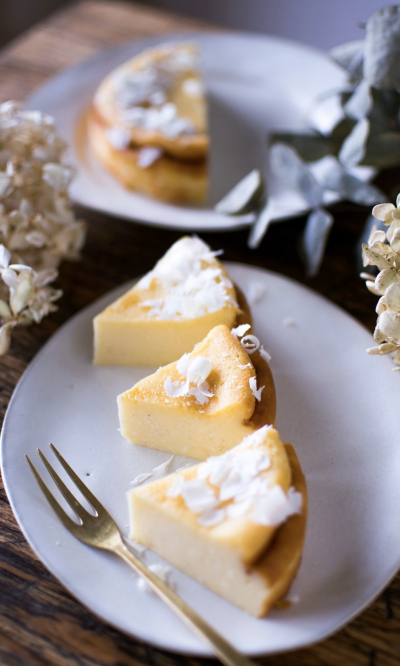 ホワイトチョコレートでミルキーチーズケーキ
