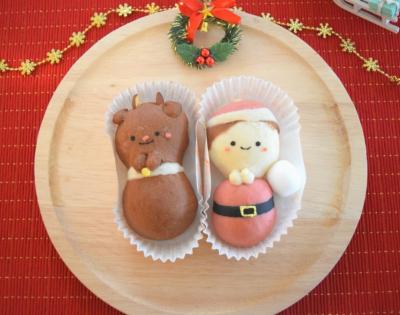 クリスマスに♪見習いサンタとトナカイパン。