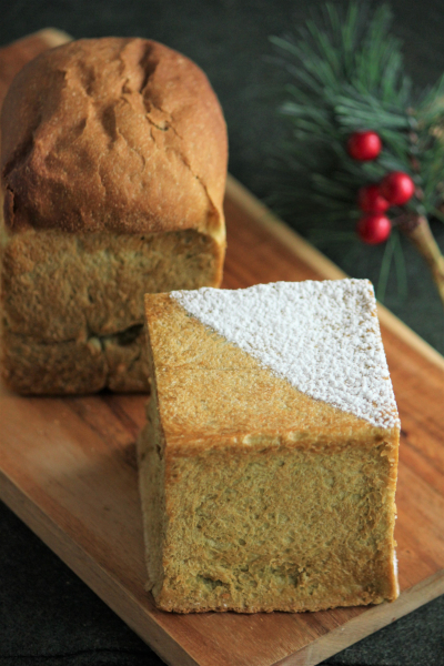 抹茶の米粉食パン