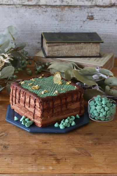 ミントチップのチョコネイキッドケーキ