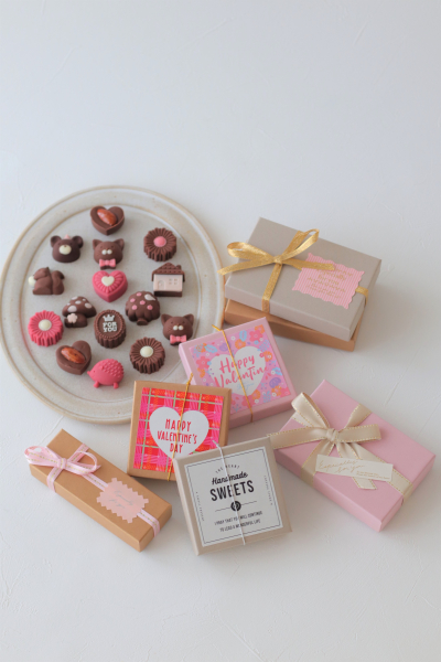 バレンタインチョコのラッピング