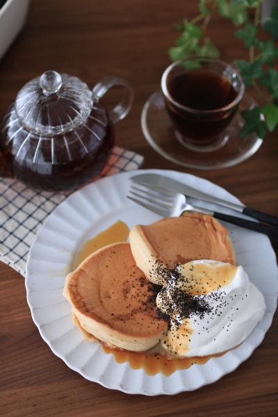 濃縮アールグレイで作るスフレパンケーキ