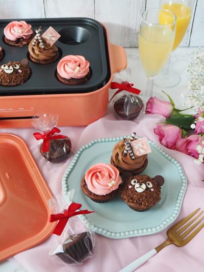 BRUNO コンパクトホットプレートで作るチョコカップケーキ♡