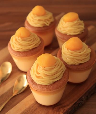 昭和のモンブランプリンケーキ